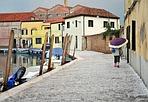 Murano imbiancata - Venezia, grandinata sull'isola (Foto Vision)