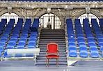La sedia presidenziale - I preparativi in piazza San Marco per la festa della Marina Militare alla quale ha presenziato il Capo dello Stato Giorgio Napolitano (Andrea Pattaro/Vision)