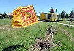 La furia e le bandiere - Venezia, sull'isola di Sant'Erasmo continua la conta dei danni per il ciclone di martedì (Pattaro/Vision)