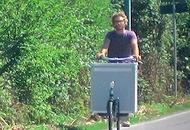 Verdure, web e cargo-bikeIl bio direttamente a casa