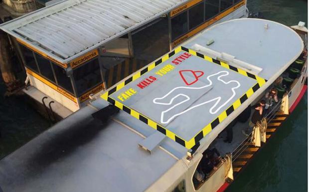 Reato di stile - Un'immagine della campagna anti contraffazione dei marchi, Venezia