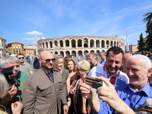 Salvini: «Zaia è in vantaggio  in tutto  il Veneto, anche a Verona»