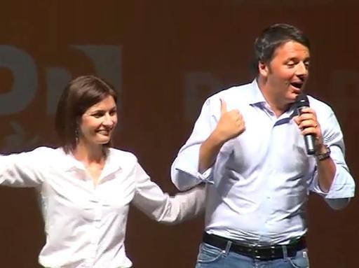 Renzi lancia Moretti | La fotogallery«In Veneto la partita più difficilema non ne vogliamo perdere una»