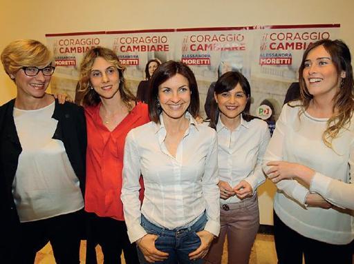 Le donne Pd spingono Moretti | Foto'È il nostro tempo, non ci fermeranno'