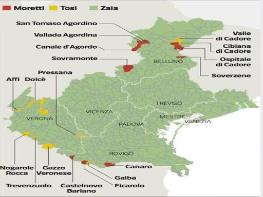 Ondata verde, il Veneto è «Zaiastan»Le rappresentazioni grafiche