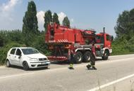 Scontro tra auto e camper, un mortoTraffico in tilt sulla Treviso Mare | Ft