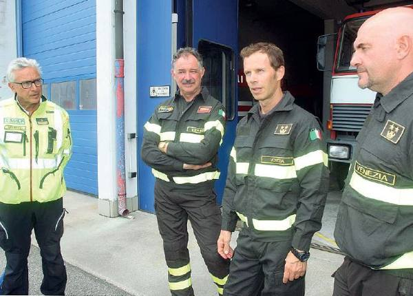 Rientrati pompieri e sanitari che hanno salvato Giorgia