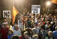 Duemila in piazza ad Abano�No ai profughi nell'ex base� | Foto