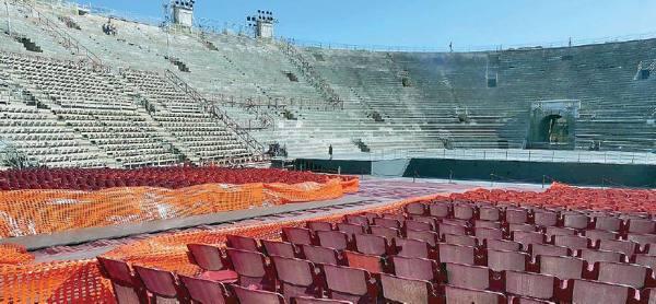 La Fondazione Arena non può pagare palco e strutture bloccati in anfiteatro