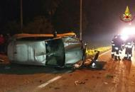 Auto si rovescia sulla provincialeGiovane donna ferita a Vigonza