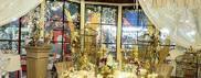 Natale, oro e luci con angeli e renne