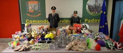 Carnevale, la Guardia di Finanza sequestra 170mila prodotti non sicuri
