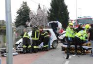 Scontro fra tre auto sulla Postumia, ferita una donna| Foto|Video