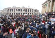 Studenti in corteo contro la mafiacittà «invasa» dall'onda della legalità