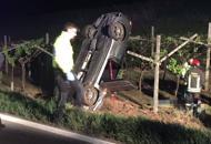 Auto finisce in un vigneto,muore nella notte a 53 anni