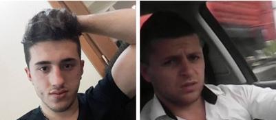 I due giovani kosovari autori della gara fra auto