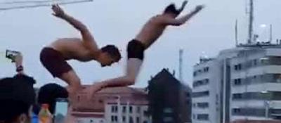 Tuffo dal ponte Calatrava Mega-multa, ma il video è virale
