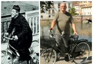 Treviso, Walter e la «bici del prete»ricostruita nella bottega dell'ex vigile