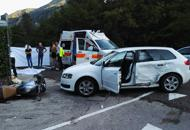 Schianto contro un'auto, motociclistadi 39 anni muore sulla Valsugana