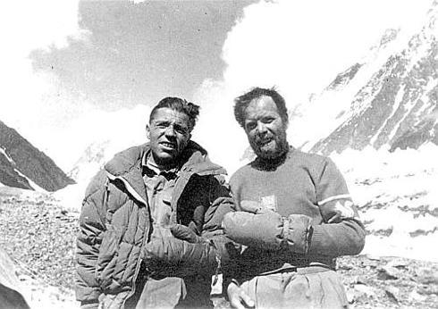 Lino Lacedelli con Achille Compagnoni