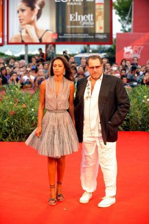 Il regista con Rula Jebreal