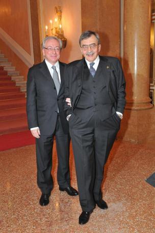 Cesare De Michelis e il sovrintendente Cristiano Chiarot