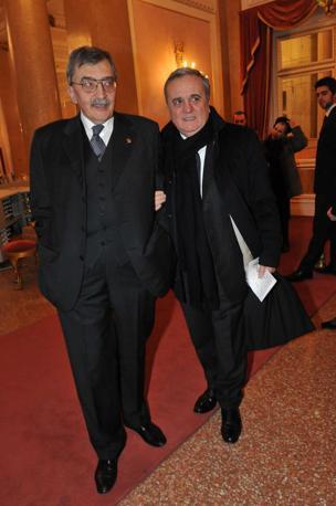 Cesare De Michelis e il ministro del Welfare Maurizio Sacconi