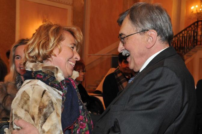 Cesare De Michelis e Stefania Craxi