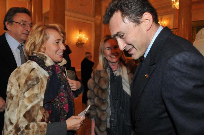Luca De Michelis con Stefania Craxi e Gianni De Michelis