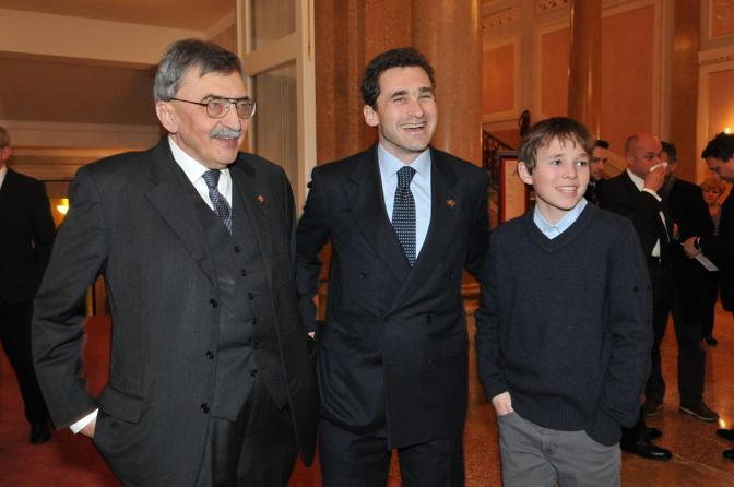 Cesare De Michelis con il figlio Luca e il nipote Cesare