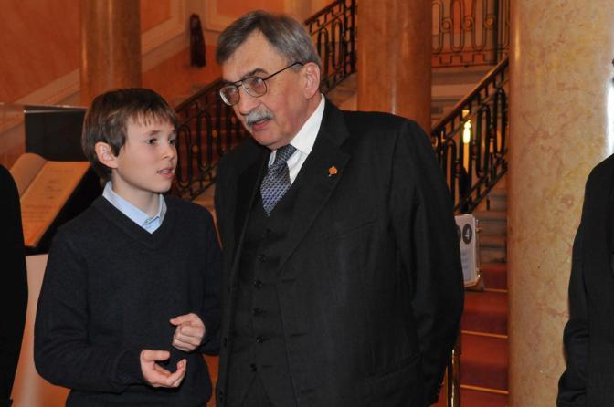 Cesare De Michelis e il nipote Cesare