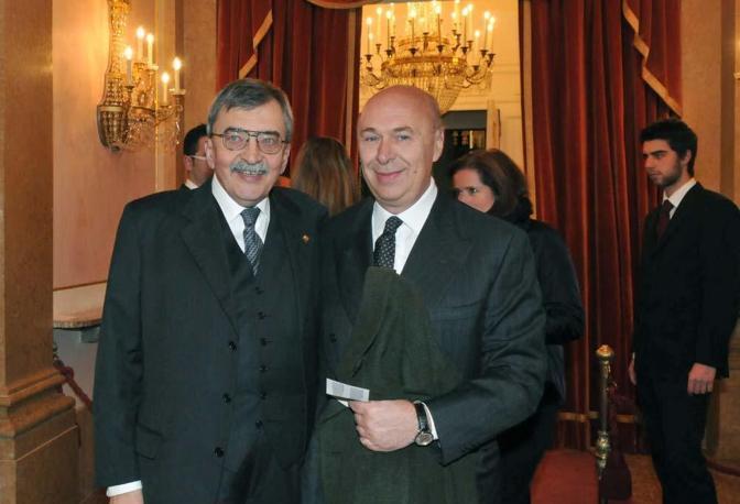 Paolo Mieli con Cesare De Michelis
