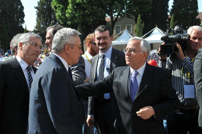 Il ministro Giulio Tremonti tra i fedeli