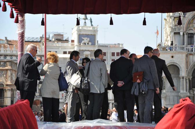 Le guardie della sicurezza del Vaticano in sopralluogo (Vision)