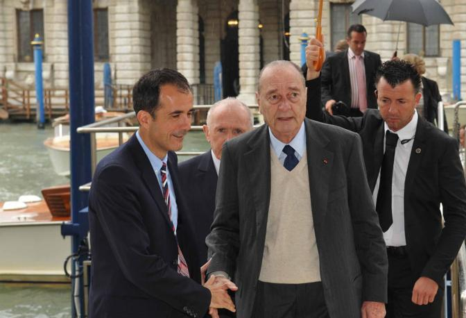 Jacques Chirac e Francois Pinault con Martin Bethenod (Marco Sabadin/Vision)