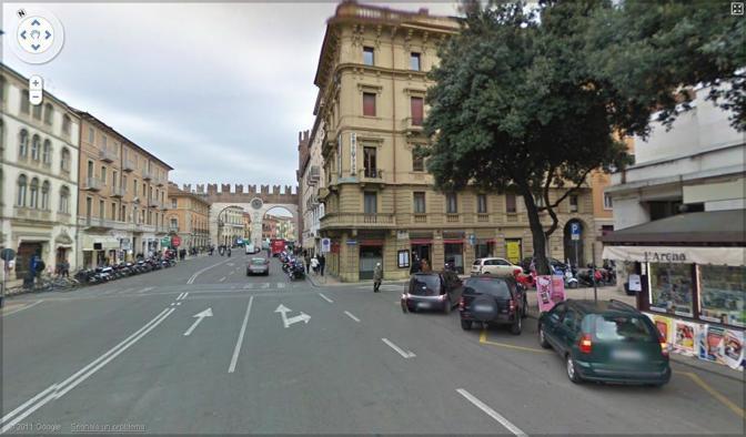 Verona mappata da google street view corriere veneto - Mezzi pubblici verona porta nuova ...