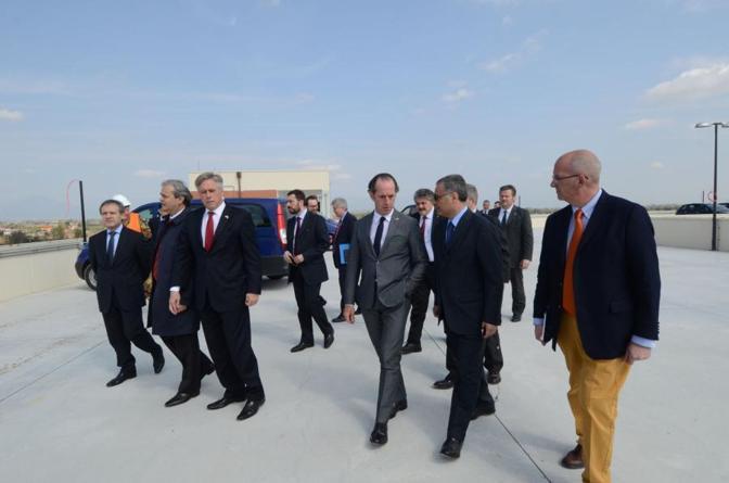 Vicenza, visita ai cantieri del Dal Molin del governatore Luca Zaia e dell'ambasciatore Usa David Thorne