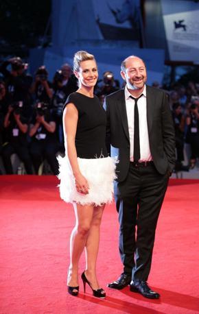 L'attrice Cecile De France con il regista (Claudia Manzo/Vision)
