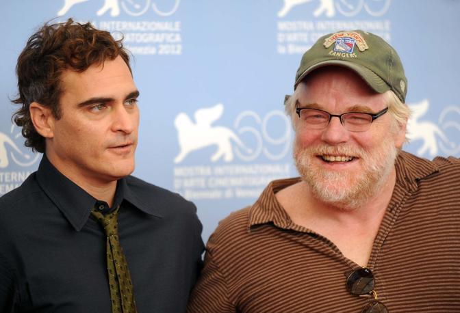 Cast del film The Master. Joaquin Phoneix Philip Seymour Hoffman