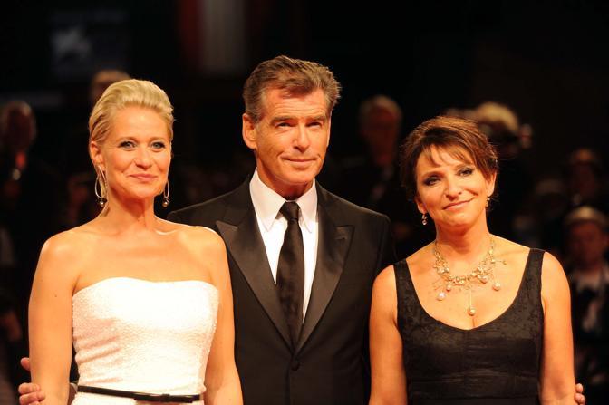 Premiere del film Love is all you need. Pierce Brosnan con la regista Susanne Bier e Trine Dyrholm