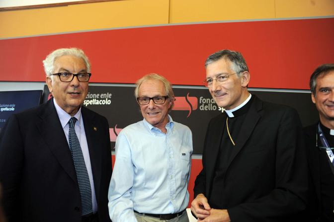 Premio Bresson al regista Inglese Ken Loach premiato dal patriarca di Venezia Francesco Moraglia