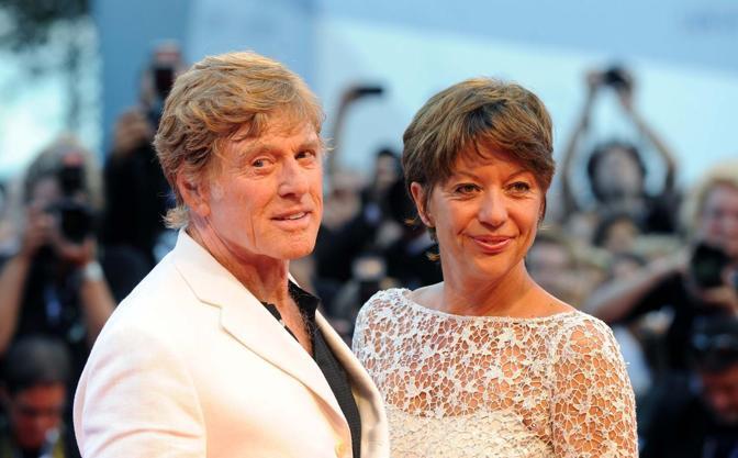 Robert Redford con l'attore Shia LaBeouf (Andrea Pattaro)
