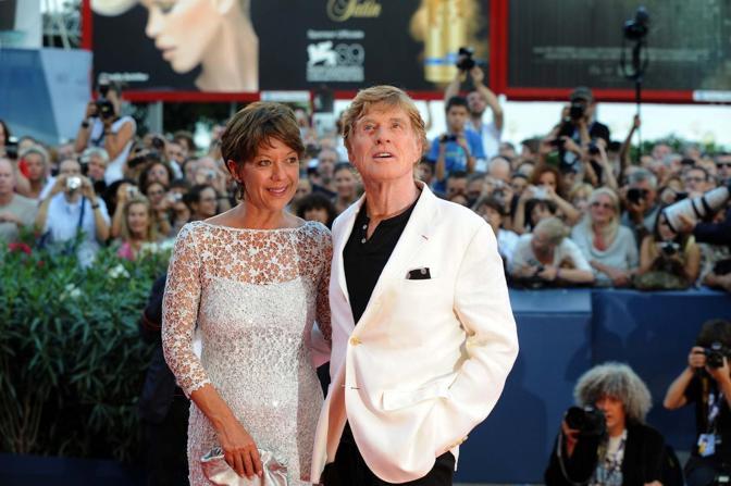 Robert Redford con la moglie (Andrea Pattaro)