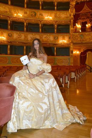 Sofia Valleri, madrina del carnevale della Fenice
