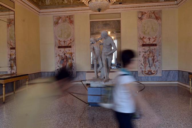Le sale del museo Correr a Venezia - Dedalo e Icaro del Canova