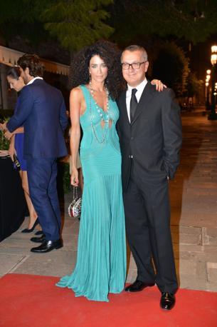 Randi Ingerman assieme al direttore di Vanity Fair Luca Dini