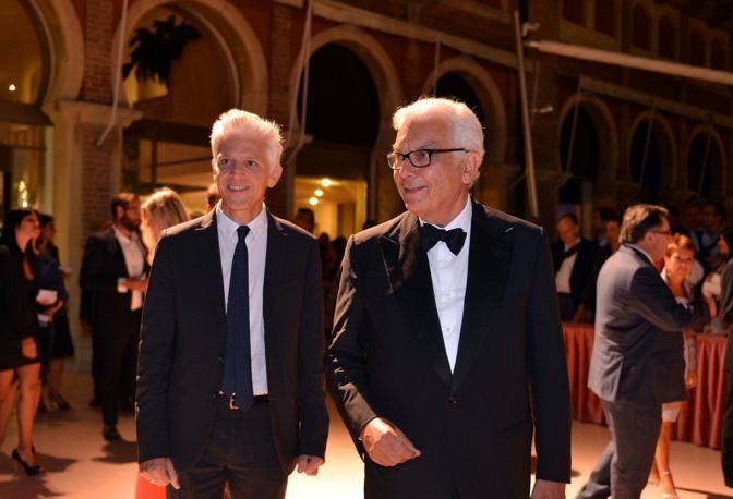 Il ministro della cultura Massimo Bray e il presidente della biennale Paolo Baratta