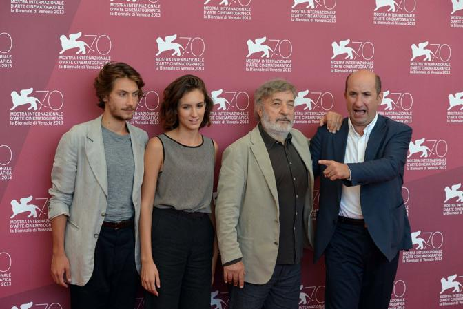 Da sinistra verso destra Gabriele Rendina Livia Rossi Gianni Amelio e Antonio Albanese