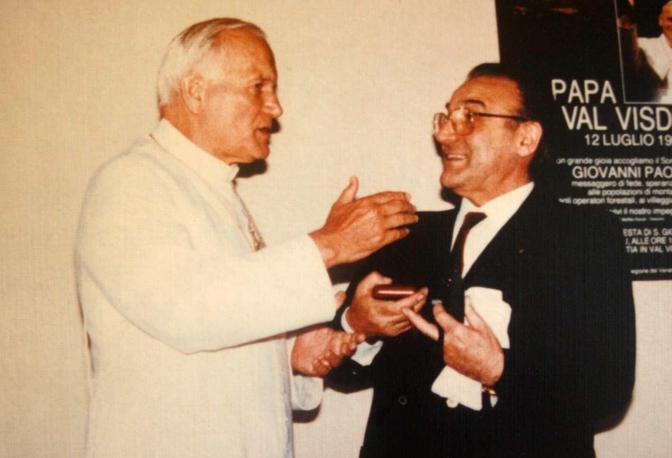 Dino Boscarato con Karol Wojtyla