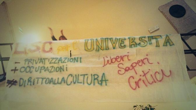 La protesta degli studenti a Ca' Foscari